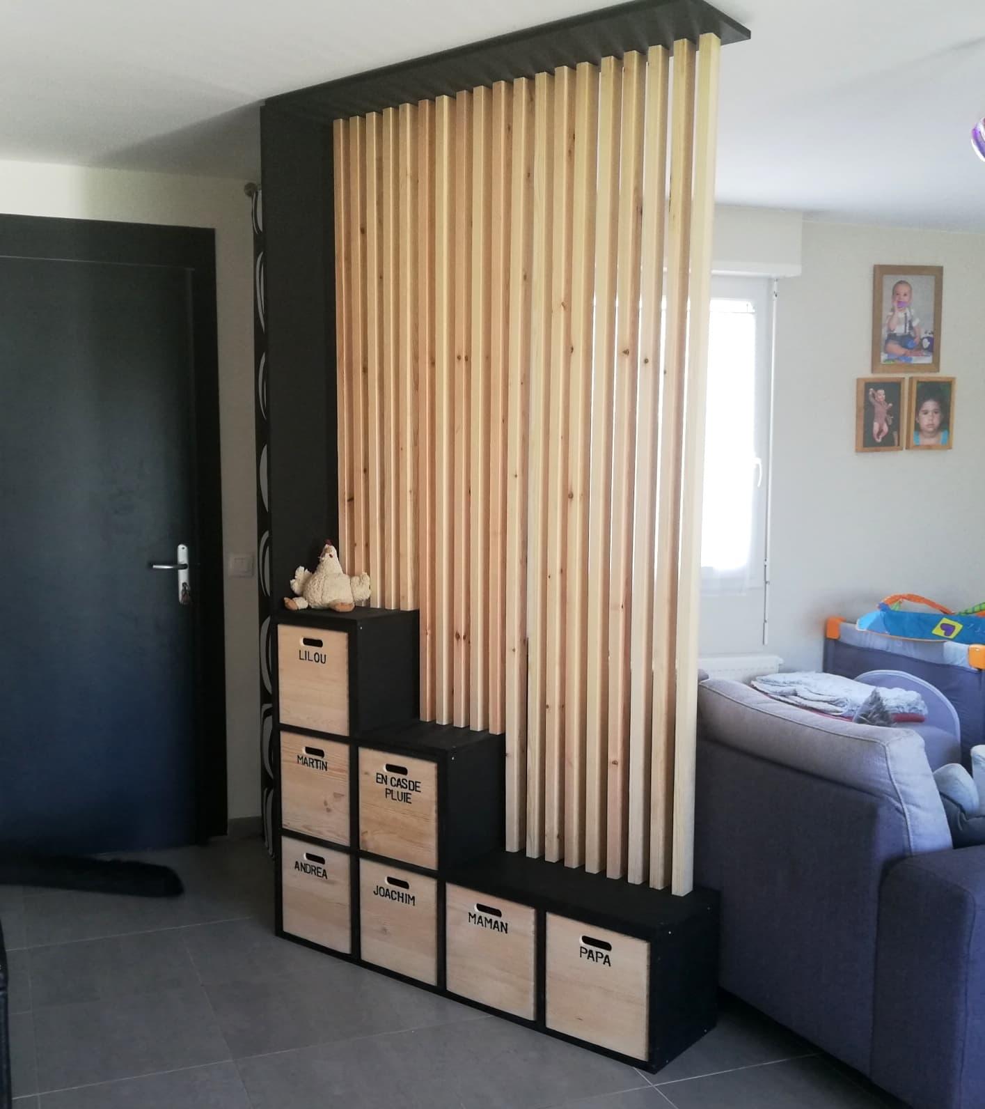 meuble d entree de separation en bois